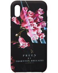 Preen By Thornton Bregazzi - Iphone Case Black Plastic Foxglove - Lyst