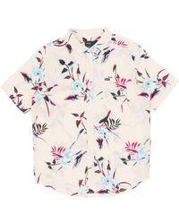 RVCA - Moonflower Short Sleeved Shirt - Lyst