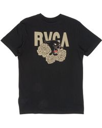 RVCA - Panther And Roses T-shirt - Lyst