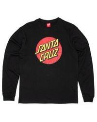 Santa Cruz Classic Dot Longsleeve T-shirt - Black