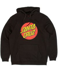Santa Cruz Classic Dot Hooded Sweatshirt - Black