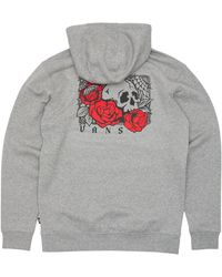 Vans Rose Bed Hooded Sweatshirt - Grey