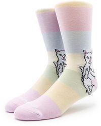 RIPNDIP Lord Nermal Mid City Socks - Pink