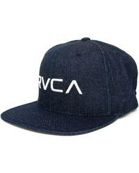 RVCA Rv Twill Snapback Cap - Blue