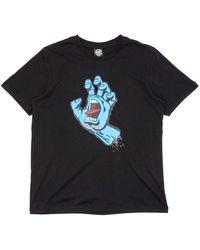 Santa Cruz Womens Screaming Hand T-shirt - Black