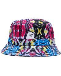 RIPNDIP Lord Nermal Dyed Bucket Hat - Black