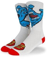 Santa Cruz Screaming Hand Socks - White