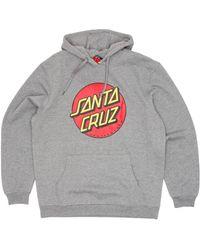 Santa Cruz Classic Dot Hooded Sweatshirt - Grey