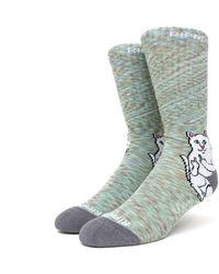 RIPNDIP Lord Nermal Socks - Grey