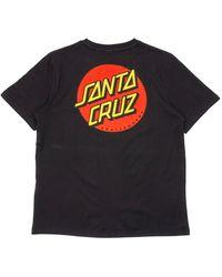 Santa Cruz Womens Classic Dot T-shirt - Black