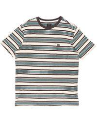RVCA Damian Striped T-shirt - Blue