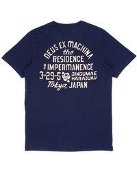 Deus Ex Machina Yj Tokyo T-shirt - Blue