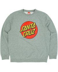 Santa Cruz Classic Dot Crew Sweatshirt - Grey
