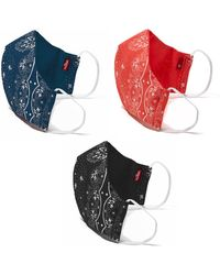 Levi's 3pk Reusable Bandana Face Coverings - Black