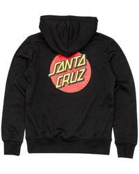 Santa Cruz Womens Classic Dot Hooded Sweatshirt - Black