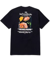 Huf Never Yours T-shirt - Black