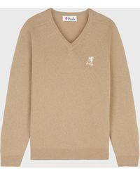 Pringle of Scotland 100/% Lambswool V-Neck Ladies Jumper Driftwood Sweater