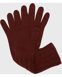 Pringle of Scotland Women's Scottish Cashmere Gloves In Burgundy - Red