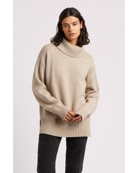Pringle of Scotland Guernsey Stitch Roll Neck Cashmere Jumper - Natural