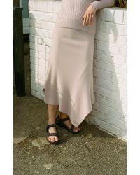 Pringle of Scotland Traveling Rib Maxi Skirt - Pink