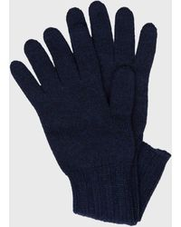 Pringle of Scotland Women's Scottish Cashmere Gloves In Inkwell - Blue