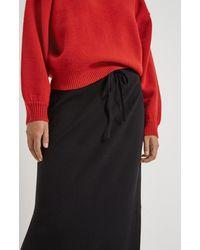 Pringle of Scotland Drawstring Merino Skirt - Black