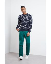 Pringle of Scotland Reflections Crew Neck Jumper - Blue