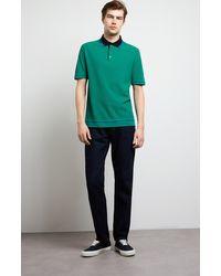 Pringle of Scotland Contrast Tipped Cotton Polo Shirt - Green
