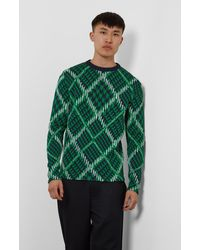 Pringle of Scotland Argyle Check Jumper - Green