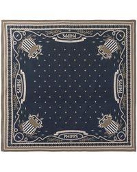Phipps Printed Cotton Bandana Scarf - Blue