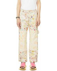 Collina Strada Flower Power Cotton Trousers - Multicolour