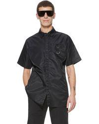 1017 ALYX 9SM Short-sleeve Shirt With Signature Buckle - Black