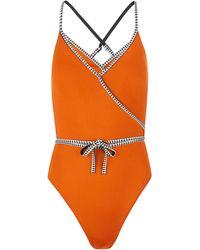 lemlem Lena One-piece Swimsuit - Orange