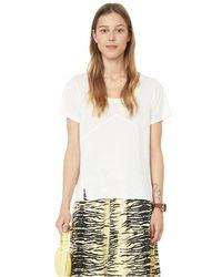 Ernest Leoty T-shirt Blanche en soie mélangée