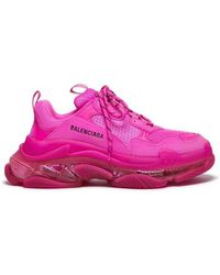 Balenciaga Baskets Triple S Clear Sole en cuir synthétique - Rose