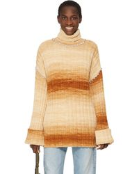 Area Oversized Jumper With Crystals - Brown