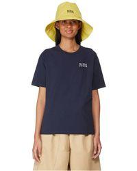 Nina Ricci T-shirt brodé en coton - Bleu