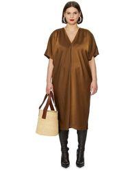 UNIVERSAL STANDARD Robe ample midi - Marron