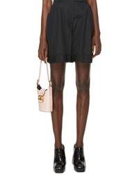 Simone Rocha Shorts With Lace - Black