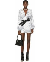In the mood for love Sequinned Playsuit - White