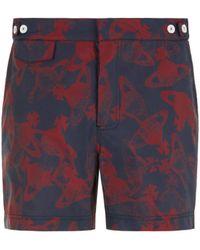 Vivienne Westwood Orb Printed Swim Shorts - Blue