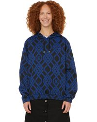 Koche X Printemps Graphic Cotton-blend Hoodie - Blue