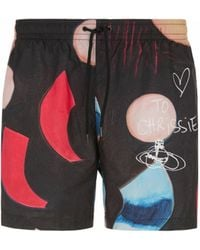 Vivienne Westwood Printed Swim Shorts - Black