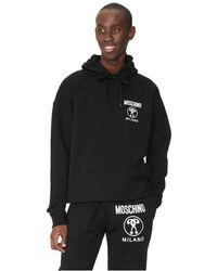 Moschino Sweat-shirt zippé Double Question Mark en coton - Noir