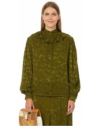 Roseanna Blouse en jacquard - Vert