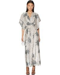In the mood for love Print Design Dress With Sequins - Metallic