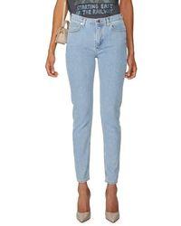 Lacoste Jean skinny en coton stretch - Bleu