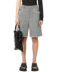 Area Crystal-embellished Shorts - Grey