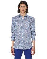 Etro Chemise imprimée en coton - Bleu