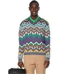 Missoni Pull en mailles crochetées - Multicolore